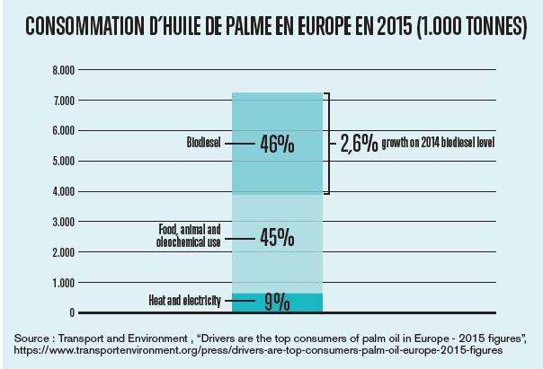 consommation huile de palme europe
